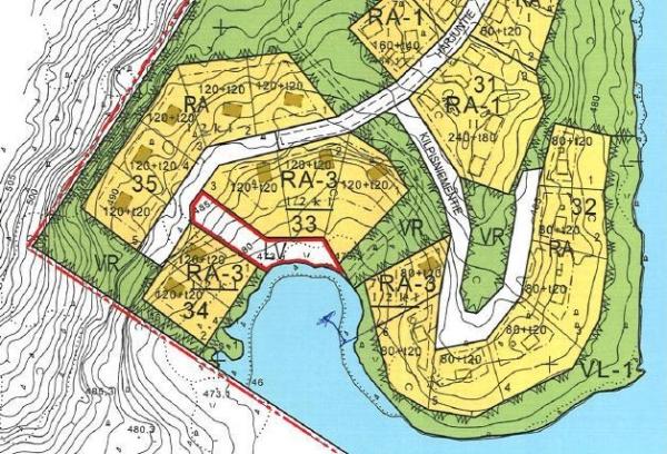 Kilpisjärven loma-asuntotonttien korttelit 32, 33, 34 ja 35 sijaitsevat Harjuntien ja Kilpisniementien varrella.