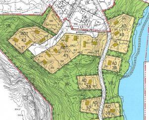 Kilpisjärvenjärven erillispientalotonttien sijoittuminen kaavassa