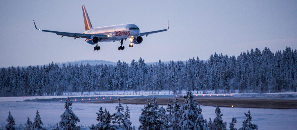 Enontekiön lentoasema on valmistunut vuonna 1980 ja se on maan nuorin lentoasema. Se sijaitsee 300 metriä merenpinnan yläpuolella ja on siten Suomen korkeimmalla sijaitseva lentoasema.