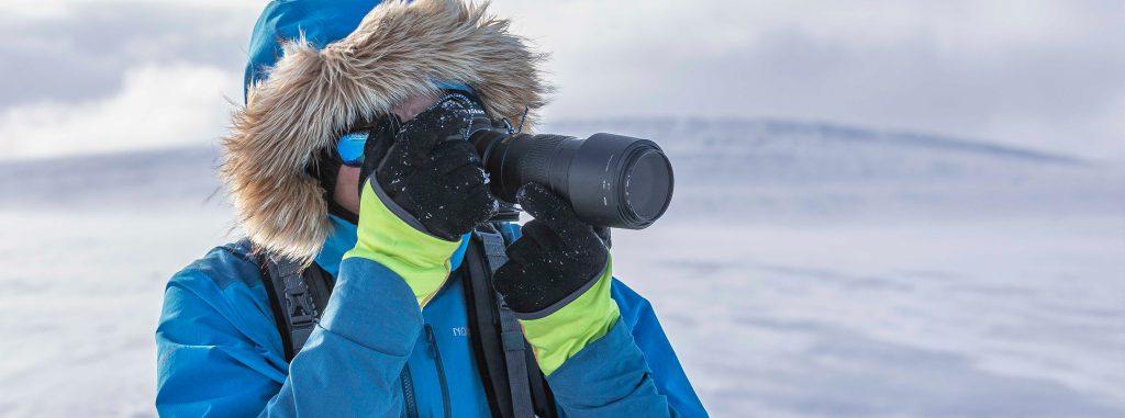 Talvikuvausta voi Enontekiöllä harrastaa kauniissa tunturimaisemissa.